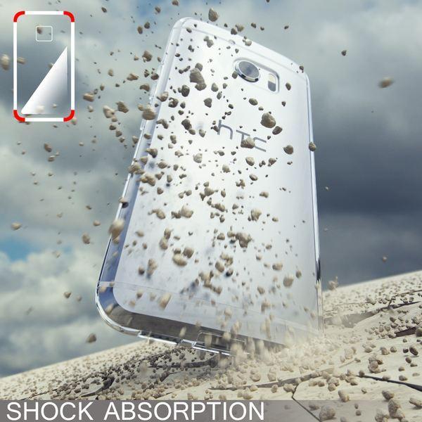 NALIA Handyhülle kompatibel mit HTC 10, Ultra-Slim Silikon Case Cover, Dünne Crystal Schutzhülle, Etui Handy-Tasche Back-Cover Phone Bumper, TPU Smartphone Gummihülle - Transparent Weiß – Bild 6