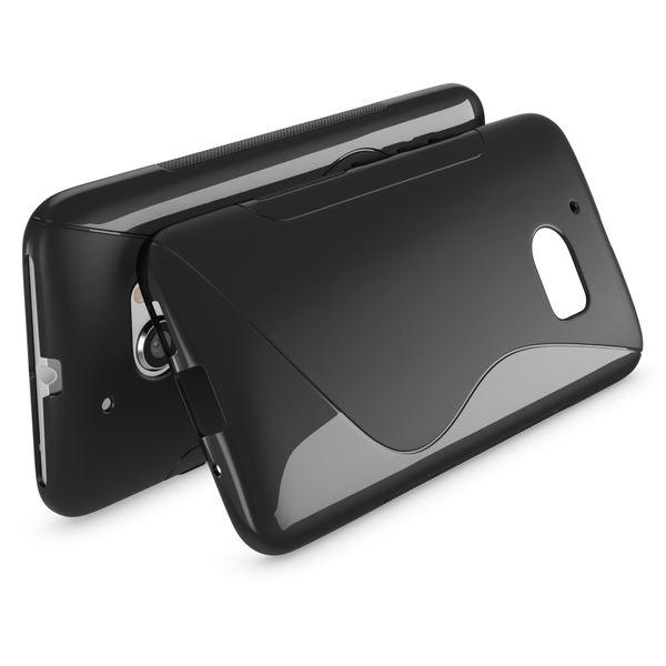 NALIA Handyhülle kompatibel mit HTC 10, Ultra-Slim Silikon Case Cover, Dünne Crystal Schutzhülle, Etui Handy-Tasche Back-Cover Phone Bumper, TPU Smartphone Gummihülle - S-Line Schwarz – Bild 2