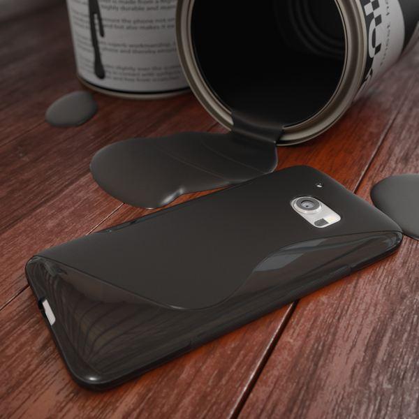 NALIA Handyhülle für HTC 10, Ultra-Slim Silikon Case Cover, Dünne Crystal Schutzhülle, Etui Handy-Tasche Back-Cover Phone Bumper, TPU Gummihülle für HTC10 Smartphone - S-Line Schwarz – Bild 4