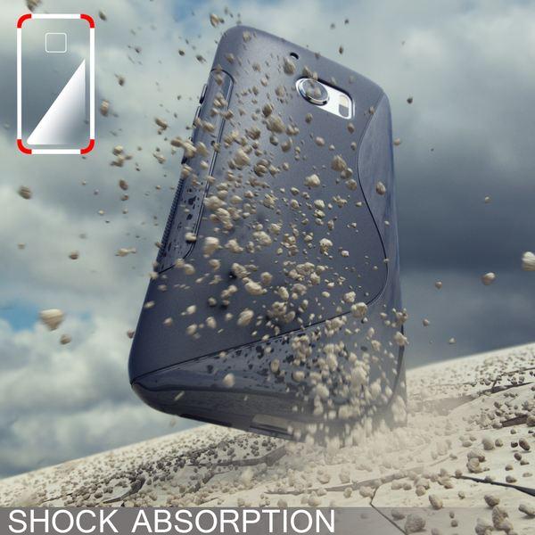 NALIA Handyhülle kompatibel mit HTC 10, Ultra-Slim Silikon Case Cover, Dünne Crystal Schutzhülle, Etui Handy-Tasche Back-Cover Phone Bumper, TPU Smartphone Gummihülle - S-Line Schwarz – Bild 6