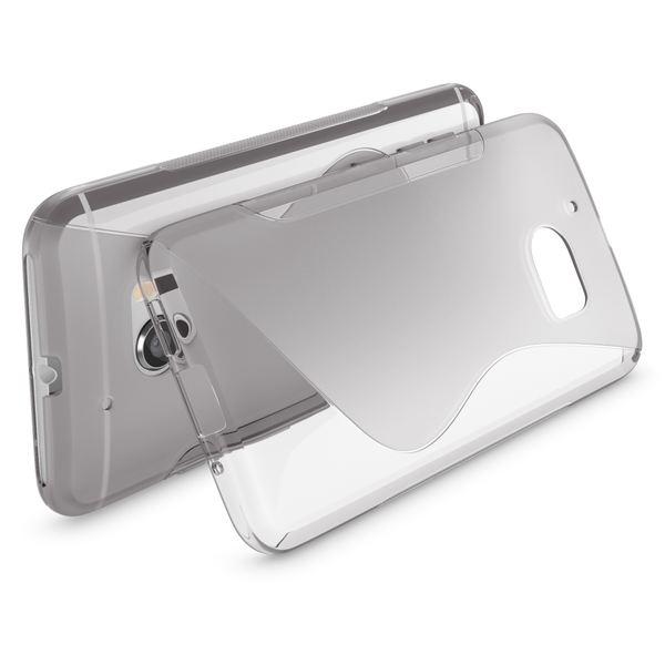 NALIA Handyhülle kompatibel mit HTC 10, Ultra-Slim Silikon Case Cover, Dünne Crystal Schutzhülle, Etui Handy-Tasche Back-Cover Phone Bumper, TPU Smartphone Gummihülle - S-Line Grau – Bild 2