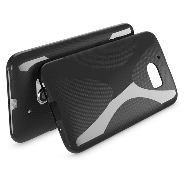 NALIA Handyhülle kompatibel mit HTC 10, Ultra-Slim Silikon Case Cover, Dünne Crystal Schutzhülle, Etui Handy-Tasche Back-Cover Phone Bumper, TPU Smartphone Gummihülle - X-Line Schwarz – Bild 2