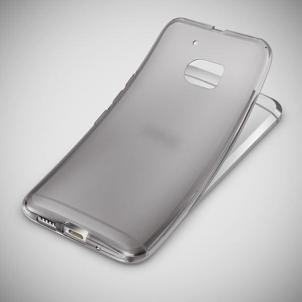 NALIA Handyhülle kompatibel mit HTC 10, Ultra-Slim Silikon Case Cover, Dünne Crystal Schutzhülle, Etui Handy-Tasche Back-Cover Phone Bumper, TPU Smartphone Gummihülle - X-Line Weiß – Bild 5