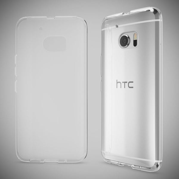 NALIA Handyhülle kompatibel mit HTC 10, Slim Silikon Motiv Case Cover Crystal Schutzhülle Dünn Durchsichtig, Etui Handy-Tasche Backcover Transparent Smartphone Bumper  - Transparent – Bild 5