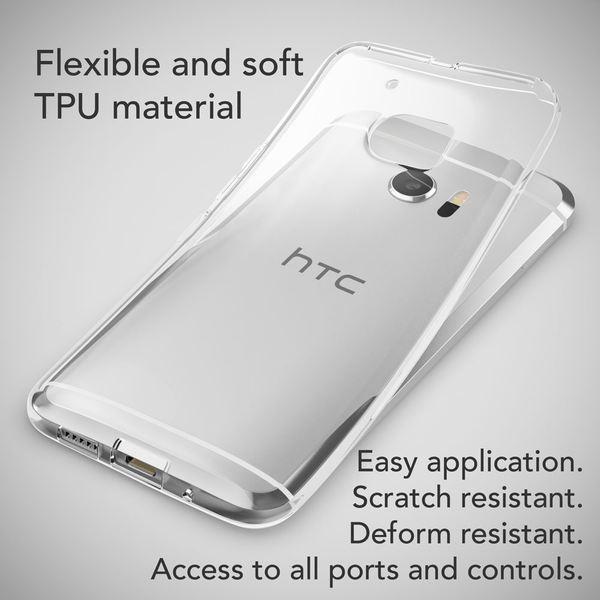 NALIA Handyhülle für HTC 10, Slim Silikon Motiv Case Cover Crystal Schutzhülle Dünn Durchsichtig, Etui Handy-Tasche Backcover Transparent Bumper für HTC10 Smartphone - Transparent – Bild 4