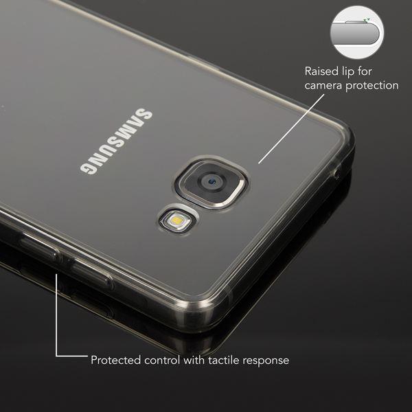 NALIA Handyhülle kompatibel mit Samsung Galaxy A5 2016, Durchsichtige Slim Silikon Case Hülle Transparente Rückseite & Bumper, Crystal Schutzhülle Etui Handy-Tasche Back-Cover - Transparent / Grau – Bild 2