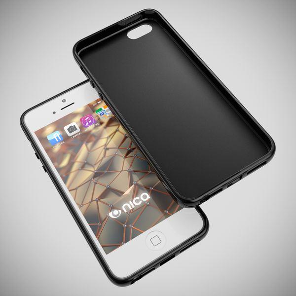 NALIA Handyhülle kompatibel mit iPhone 5 5S SE, Ultra-Slim Silikon Case Cover, Dünne Crystal Schutzhülle Etui Handy-Tasche Telefon-Schale Back-Cover Bumper, TPU Smart-Phone Gummi-Hülle - Matt Schwarz – Bild 3
