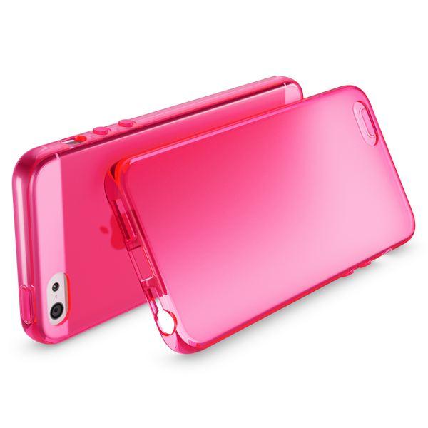 NALIA Handyhülle kompatibel mit iPhone 5 5S SE, Ultra-Slim Silikon Case Cover, Dünne Crystal Schutzhülle Etui Handy-Tasche Telefon-Schale Back-Cover Bumper, TPU Smart-Phone Gummi-Hülle - Matt Pink – Bild 2