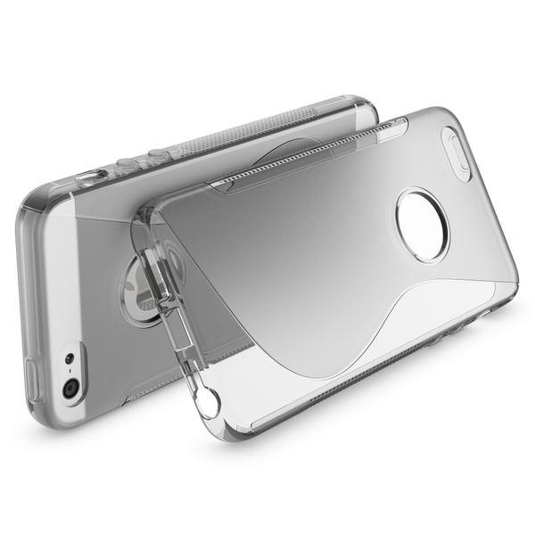 NALIA Handyhülle kompatibel mit iPhone 5 5S SE, Ultra-Slim Silikon Case Cover, Dünne Crystal Schutzhülle Etui Handy-Tasche Telefon-Schale Back-Cover Bumper, TPU Smart-Phone Gummi-Hülle - S-Line Grau – Bild 2