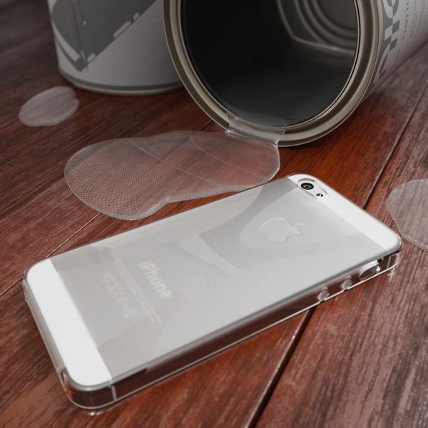 NALIA Handyhülle kompatibel mit iPhone 5 5S SE, Ultra-Slim Silikon Case Cover, Dünne Crystal Schutzhülle Etui Handy-Tasche Schale Back-Cover Bumper, TPU Smart-Phone Gummi-Hülle - X-Line Transparent – Bild 4