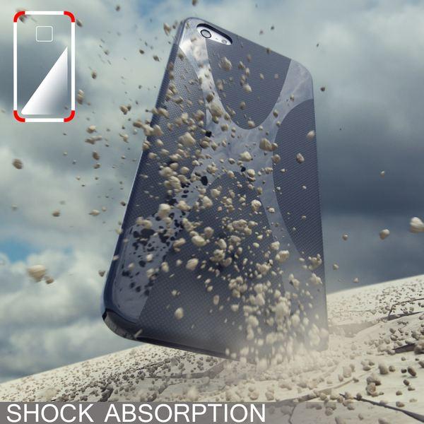 NALIA Handyhülle kompatibel mit iPhone 5 5S SE, Ultra-Slim Silikon Case Cover, Dünne Crystal Schutzhülle Etui Handy-Tasche Schale Back-Cover Bumper, TPU Smart-Phone Gummi-Hülle - X-Line Schwarz – Bild 5