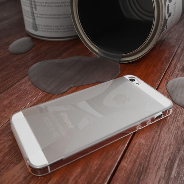 NALIA Handyhülle kompatibel mit iPhone 5 5S SE, Ultra-Slim Silikon Case Cover, Dünne Crystal Schutzhülle Etui Handy-Tasche Telefon-Schale Back-Cover Bumper, TPU Smart-Phone Gummi-Hülle - X-Line Grau – Bild 4