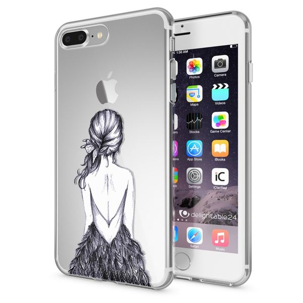 NALIA Handyhülle kompatibel mit iPhone 8 Plus / 7 Plus, Slim Silikon Motiv Handy-Case Crystal Schutz-Hülle Dünn Durchsichtig, Etui Back-Cover Schale Transparent Bumper – Bild 19