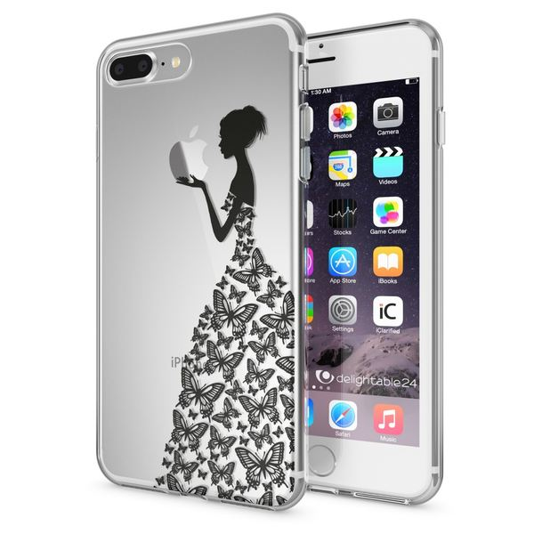 NALIA Handyhülle kompatibel mit iPhone 8 Plus / 7 Plus, Slim Silikon Motiv Handy-Case Crystal Schutz-Hülle Dünn Durchsichtig, Etui Back-Cover Schale Transparent Bumper – Bild 22