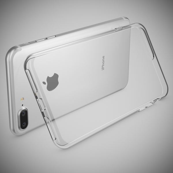 NALIA Handyhülle kompatibel mit iPhone 8 Plus / 7 Plus, Ultra-Slim Silikon Motiv Case Crystal Handy Schutz-Hülle Dünn Durchsichtig, Etui Back-Cover Telefon-Schale Smart-Phone Bumper - Transparent – Bild 2