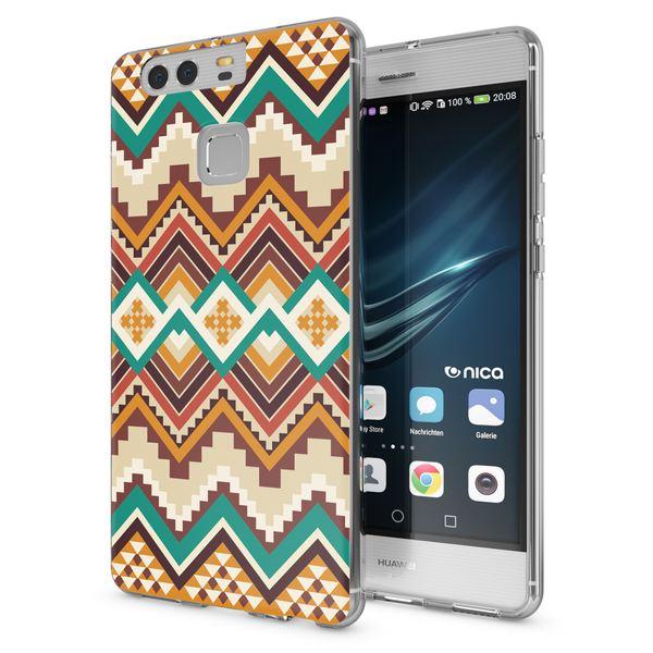 NALIA Handyhülle kompatibel mit Huawei P9, Slim Silikon Motiv Case Cover Hülle Crystal Schutzhülle Dünn Durchsichtig Etui Handy-Tasche Back-Cover Transparent Phone Bumper – Bild 2