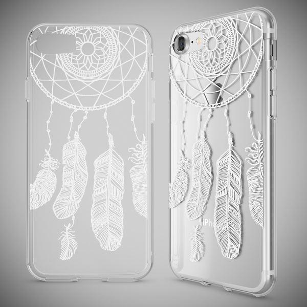 NALIA Handyhülle für iPhone 7, Slim Silikon Motiv Case Crystal Schutz-Hülle Dünn Durchsichtig, Etui Handy-Tasche Back-Cover Transparent Bumper für Apple iPhone 7 – Bild 7