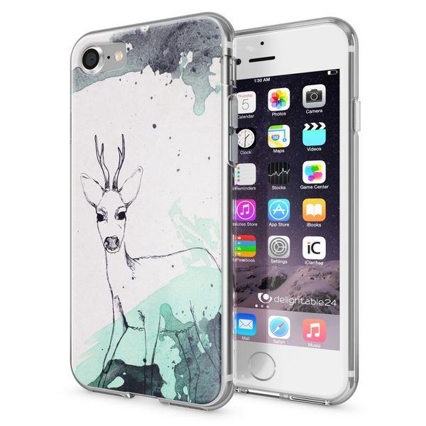 NALIA Handyhülle für iPhone 7, Slim Silikon Motiv Case Crystal Schutz-Hülle Dünn Durchsichtig, Etui Handy-Tasche Back-Cover Transparent Bumper für Apple iPhone 7 – Bild 14