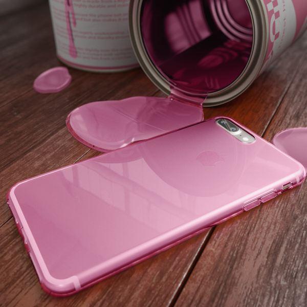 NALIA Handyhülle für iPhone 8 Plus / 7 Plus, Ultra-Slim Silikon Case, Dünne Crystal Schutz-Hülle, Etui Handy-Tasche Back-Cover Bumper, Gummihülle für Apple i-Phone 7+ / 8+ - Transparent Pink – Bild 5
