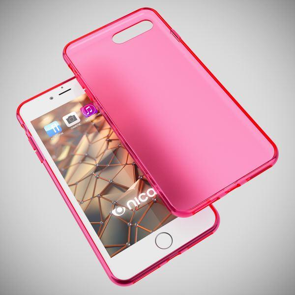NALIA Handyhülle für iPhone 8 Plus / 7 Plus, Ultra-Slim Silikon Case, Dünne Crystal Schutz-Hülle, Etui Handy-Tasche Back-Cover Bumper, Gummihülle für Apple i-Phone 7+ / 8+ - Matt Pink – Bild 3