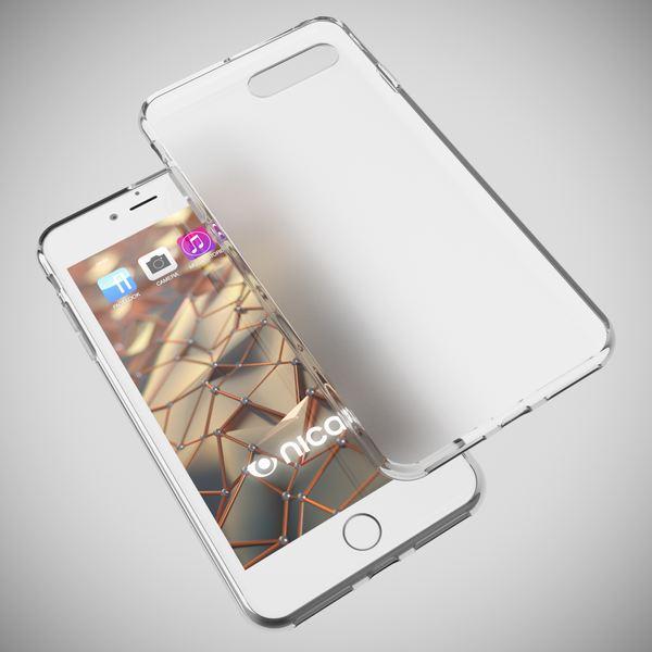 NALIA Handyhülle für iPhone 8 Plus / 7 Plus, Ultra-Slim Silikon Case, Dünne Crystal Schutz-Hülle, Etui Handy-Tasche Back-Cover Bumper, Gummihülle für Apple i-Phone 7+ / 8+ - Transparent Weiß – Bild 3