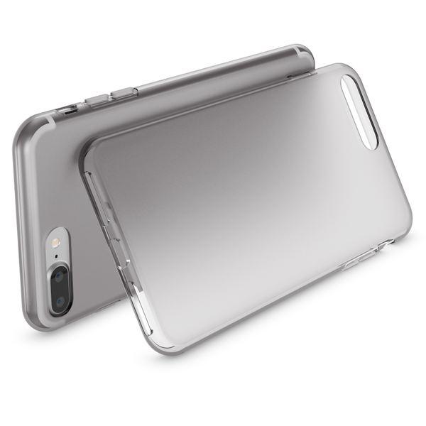 NALIA Handyhülle kompatibel mit iPhone 8 Plus / 7 Plus, Ultra-Slim Silikon Case, Dünne Crystal Schutz-Hülle Etui Handy-Tasche Schale Back-Cover Bumper, Thin Smart-Phone Gummi-Hülle - Transparent Grau – Bild 2