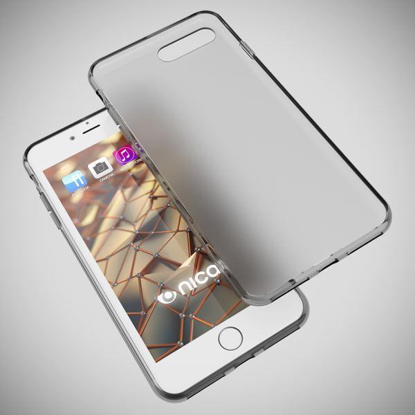 NALIA Handyhülle kompatibel mit iPhone 8 Plus / 7 Plus, Ultra-Slim Silikon Case, Dünne Crystal Schutz-Hülle Etui Handy-Tasche Schale Back-Cover Bumper, Thin Smart-Phone Gummi-Hülle - Transparent Grau – Bild 3