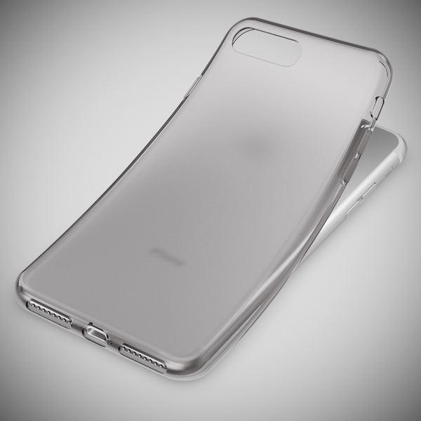 NALIA Handyhülle kompatibel mit iPhone 8 Plus / 7 Plus, Ultra-Slim Silikon Case, Dünne Crystal Schutz-Hülle Etui Handy-Tasche Schale Back-Cover Bumper, Thin Smart-Phone Gummi-Hülle - Transparent Grau – Bild 6
