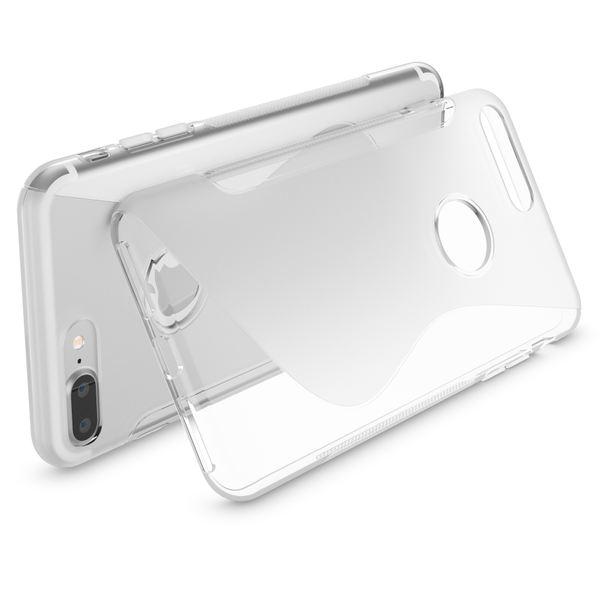 NALIA Handyhülle für iPhone 8 Plus / 7 Plus, Ultra-Slim Silikon Case, Dünne Crystal Schutz-Hülle, Etui Handy-Tasche Back-Cover Bumper, Gummihülle für Apple i-Phone 7+ / 8+ - S-Line Transparent – Bild 2