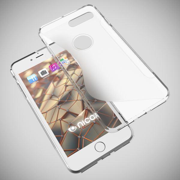 NALIA Handyhülle für iPhone 8 Plus / 7 Plus, Ultra-Slim Silikon Case, Dünne Crystal Schutz-Hülle, Etui Handy-Tasche Back-Cover Bumper, Gummihülle für Apple i-Phone 7+ / 8+ - S-Line Transparent – Bild 3