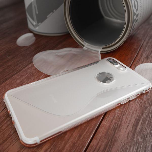NALIA Handyhülle für iPhone 8 Plus / 7 Plus, Ultra-Slim Silikon Case, Dünne Crystal Schutz-Hülle, Etui Handy-Tasche Back-Cover Bumper, Gummihülle für Apple i-Phone 7+ / 8+ - S-Line Transparent – Bild 5