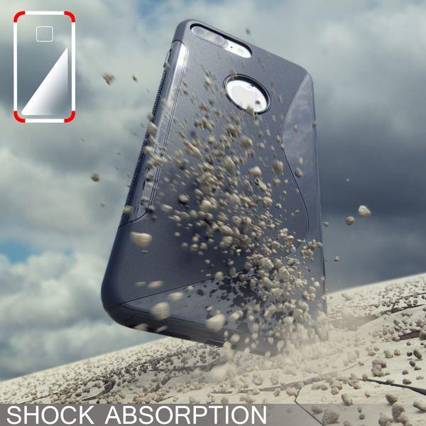 NALIA Handyhülle kompatibel mit iPhone 8 Plus / 7 Plus, Ultra-Slim Silikon Case, Dünne Crystal Schutz-Hülle Etui Handy-Tasche Telefon-Schale Back-Cover Bumper, Smart-Phone Gummi-Hülle - S-Line Grau – Bild 7