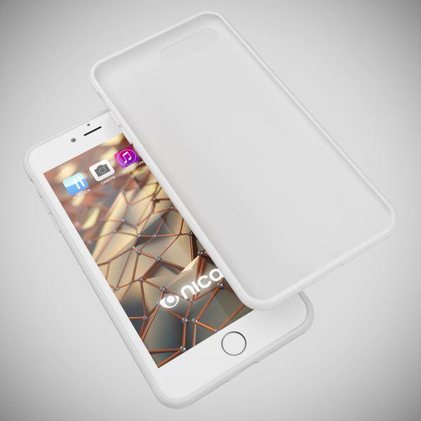 NALIA Handyhülle kompatibel mit iPhone 8 Plus / 7 Plus, Ultra-Slim Silikon Case, Dünne Crystal Schutz-Hülle Etui Handy-Tasche Telefon-Schale Back-Cover Bumper, Smart-Phone Gummi-Hülle - X-Line Weiß – Bild 3
