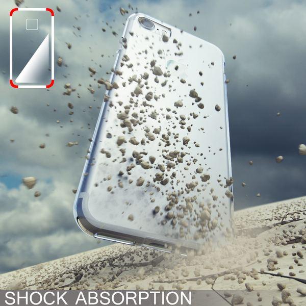 NALIA Handyhülle kompatibel mit iPhone 8 / 7, Ultra-Slim Silikon Case Cover, Dünne Crystal Schutz-Hülle Etui Handy-Tasche Back-Cover Bumper, TPU Schale Thin Smart-Phone Gummi-Hülle - Transparent Weiß – Bild 7