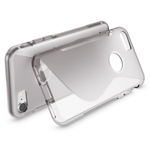 NALIA Handyhülle für iPhone 8 / 7, Ultra-Slim Silikon Case Cover, Dünne Crystal Schutz-Hülle, Etui Handy-Tasche Back-Cover Bumper, TPU Gummihülle für Apple i-Phone 7 / 8 Phone - S-Line Grau – Bild 3