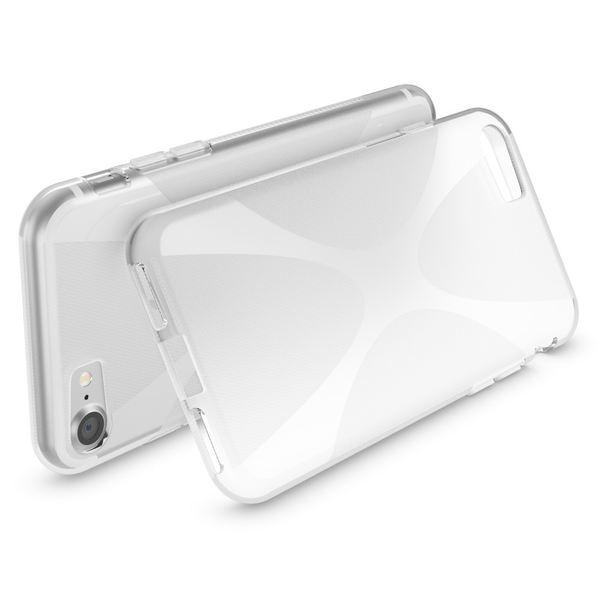 NALIA Handyhülle kompatibel mit iPhone 8 / 7, Ultra-Slim Silikon Case Cover, Dünne Crystal Schutz-Hülle Etui Handy-Tasche Back-Cover Bumper, TPU Schale Smart-Phone Gummi-Hülle - X-Line Transparent – Bild 3