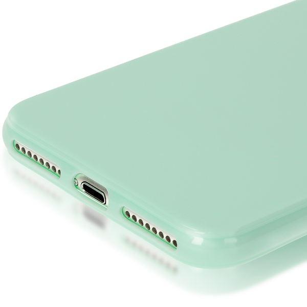 NALIA Handyhülle kompatibel mit iPhone 8 Plus / 7 Plus, Ultra-Slim TPU Silikon Jelly Case, Dünne Gummi Schutz-Hülle Schale Skin, Etui Handy-Tasche Back-Cover Thin-Fit Smart-Phone Bumper - Mint Grün – Bild 5