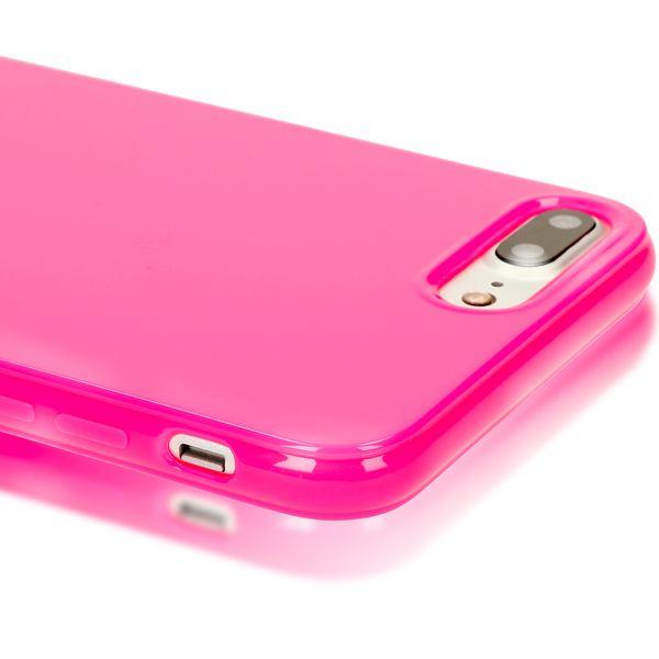 NALIA Handyhülle für iPhone 8 Plus / 7 Plus, Ultra-Slim TPU Silikon Jelly Case, Dünner Gummi Schutz-Hülle Skin, Etui Handy-Tasche Back-Cover Bumper für Apple i-Phone 7 Plus / 8 Plus - Pink – Bild 2