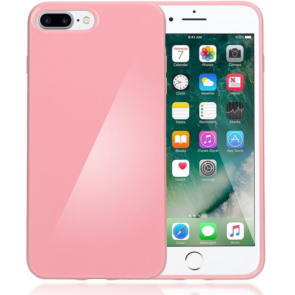 NALIA Handyhülle kompatibel mit iPhone 8 Plus / 7 Plus, Ultra-Slim TPU Silikon Jelly Case, Dünne Gummi Schutz-Hülle Telefon-Schale Skin, Etui Handy-Tasche Back-Cover Thin Smart-Phone Bumper - Rosa – Bild 1