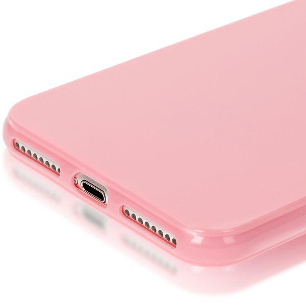 NALIA Handyhülle kompatibel mit iPhone 8 Plus / 7 Plus, Ultra-Slim TPU Silikon Jelly Case, Dünne Gummi Schutz-Hülle Telefon-Schale Skin, Etui Handy-Tasche Back-Cover Thin Smart-Phone Bumper - Rosa – Bild 5