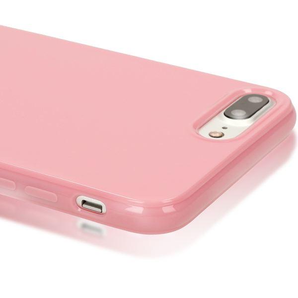 NALIA Handyhülle für iPhone 8 Plus / 7 Plus, Ultra-Slim TPU Silikon Jelly Case, Dünner Gummi Schutz-Hülle Skin, Etui Handy-Tasche Back-Cover Bumper für Apple i-Phone 7 Plus / 8 Plus - Rosa – Bild 2