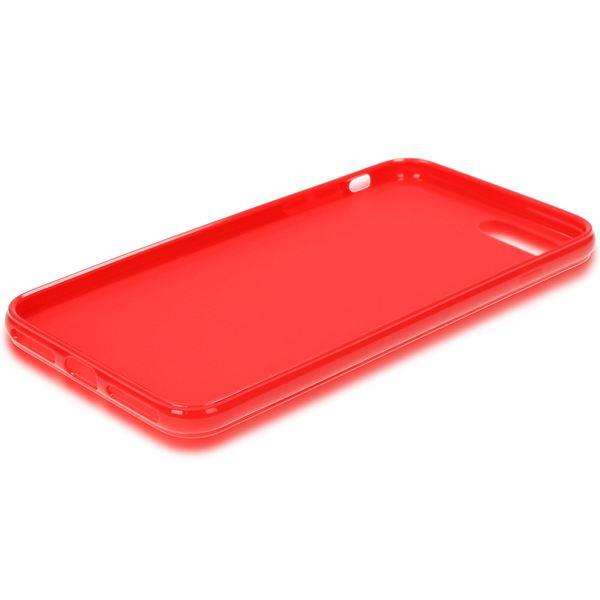 NALIA Handyhülle kompatibel mit iPhone 8 Plus / 7 Plus, Ultra-Slim TPU Silikon Jelly Case, Dünne Gummi Schutz-Hülle Telefon-Schale Skin, Etui Handy-Tasche Back-Cover Thin-Fit Smart-Phone Bumper - Rot – Bild 6