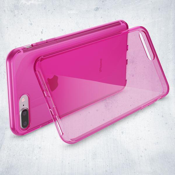 NALIA Handyhülle für iPhone 8 Plus / 7 Plus, Ultra-Slim Silikon Case Cover Crystal Schutz-Hülle Dünn Durchsichtig Etui Handy-Tasche Backcover Transparent Bumper für Apple iP 7+ / 8+ - Pink – Bild 6