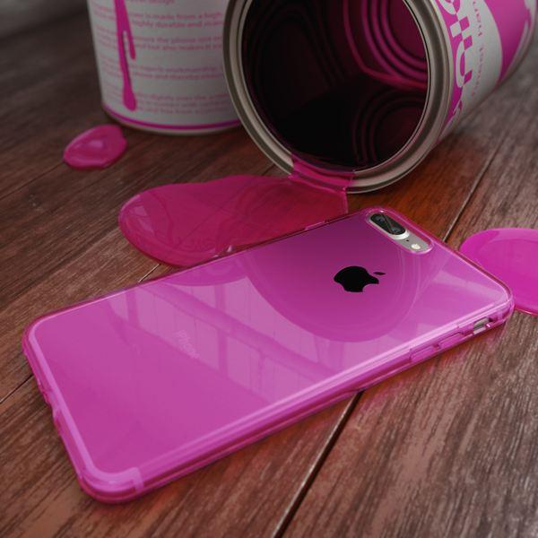 NALIA Handyhülle kompatibel mit iPhone 8 Plus / 7 Plus, Ultra-Slim Silikon Case Cover Crystal Schutz-Hülle Dünn Durchsichtig, Etui Handy-Tasche Back-Cover Schale Transparent Smart-Phone Bumper - Pink – Bild 3