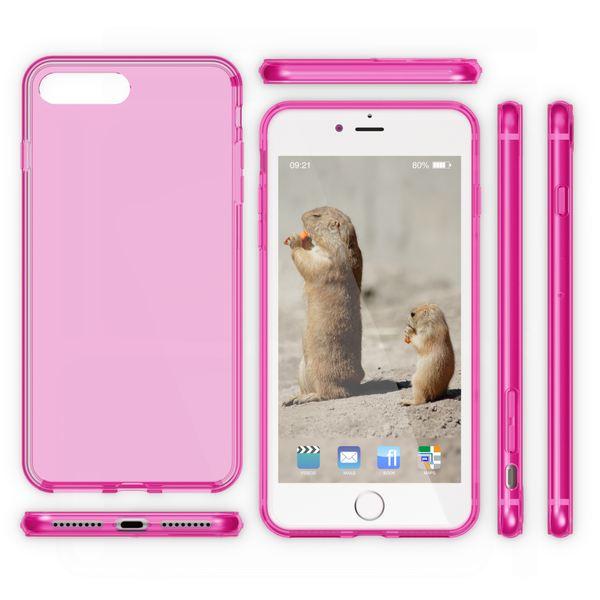 NALIA Handyhülle kompatibel mit iPhone 8 Plus / 7 Plus, Ultra-Slim Silikon Case Cover Crystal Schutz-Hülle Dünn Durchsichtig, Etui Handy-Tasche Back-Cover Schale Transparent Smart-Phone Bumper - Pink – Bild 5