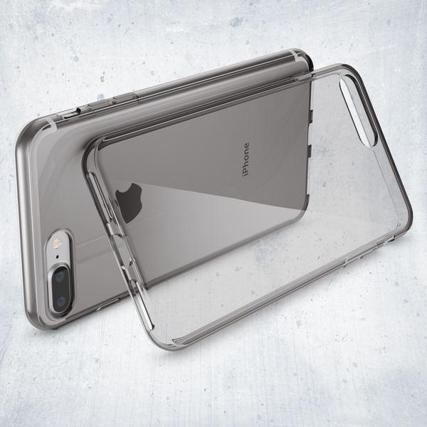 NALIA Handyhülle für iPhone 8 Plus / 7 Plus, Ultra-Slim Silikon Case Cover Crystal Schutz-Hülle Dünn Durchsichtig Etui Handy-Tasche Backcover Transparent Bumper für Apple iP 7+ / 8+ - Grau – Bild 6