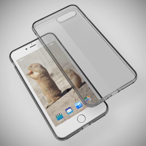 NALIA Handyhülle für iPhone 8 Plus / 7 Plus, Ultra-Slim Silikon Case Cover Crystal Schutz-Hülle Dünn Durchsichtig Etui Handy-Tasche Backcover Transparent Bumper für Apple iP 7+ / 8+ - Grau – Bild 2
