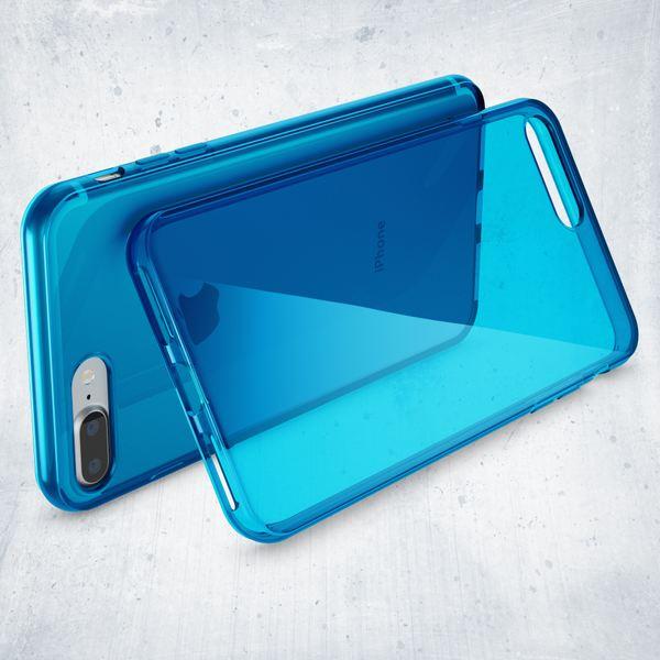 NALIA Handyhülle kompatibel mit iPhone 8 Plus / 7 Plus, Ultra-Slim Silikon Case Cover Crystal Schutz-Hülle Dünn Durchsichtig, Etui Handy-Tasche Back-Cover Schale Transparent Smart-Phone Bumper - Blau – Bild 6