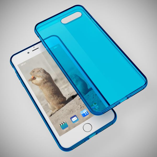 NALIA Handyhülle kompatibel mit iPhone 8 Plus / 7 Plus, Ultra-Slim Silikon Case Cover Crystal Schutz-Hülle Dünn Durchsichtig, Etui Handy-Tasche Back-Cover Schale Transparent Smart-Phone Bumper - Blau – Bild 2