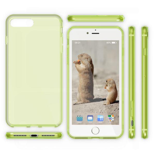 NALIA Handyhülle kompatibel mit iPhone 8 Plus / 7 Plus, Ultra-Slim Silikon Case Cover Crystal Schutz-Hülle Dünn Durchsichtig, Etui Handy-Tasche Back-Cover Schale Transparent Smart-Phone Bumper - Grün – Bild 5